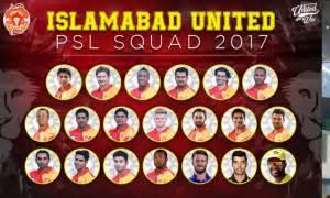 psl 2017: islamabad united team squad, team members