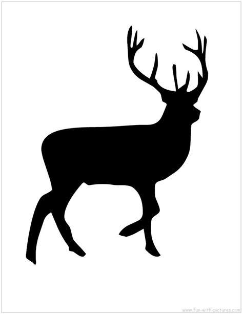 Reindeer Silhouette Template Craft Pinterest Reindeer Silhouette Silhouettes And Iris Folding Reindeer Silhouette Template