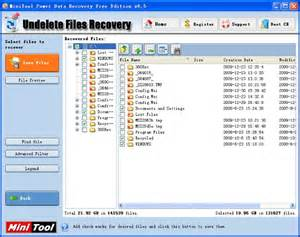 free undelete recovery software could help you to recover