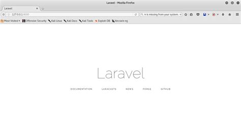 laravel tutorial linux how to setup laravel in kali linux 2 step by step