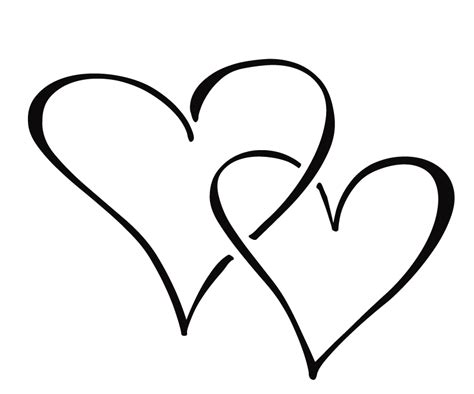 double heart coloring page heart 180 s drawings coloring child coloring