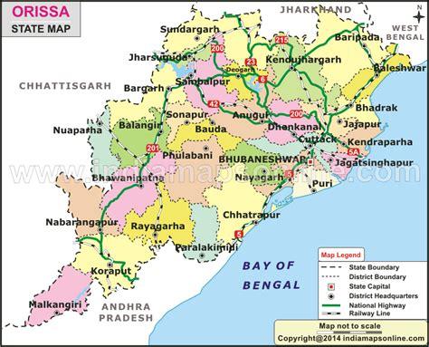 Odisha Map Outline by Pin Map Of Odisha On