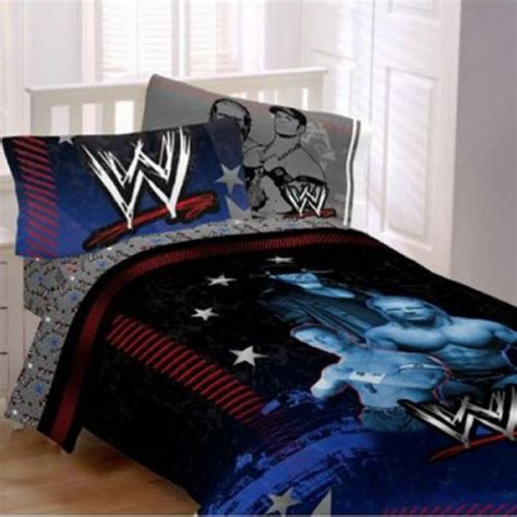 wwe bed set wwe main event 4pc twin comforter and sheet set