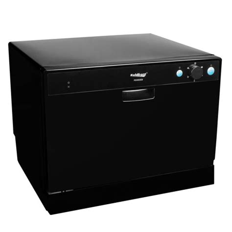 new small portable countertop compact dishwasher black
