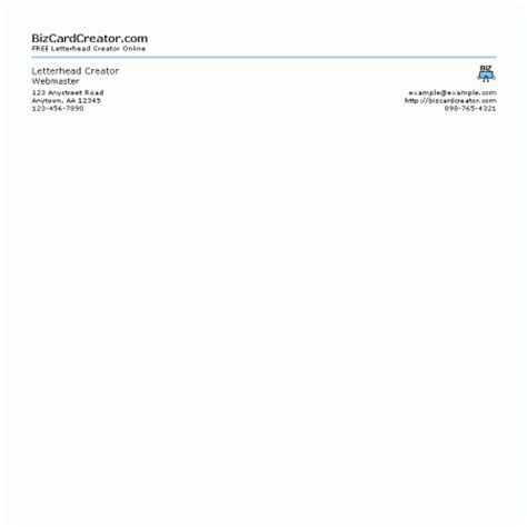Business Letterhead Generator Free Business Letterhead Maker Docoments Ojazlink