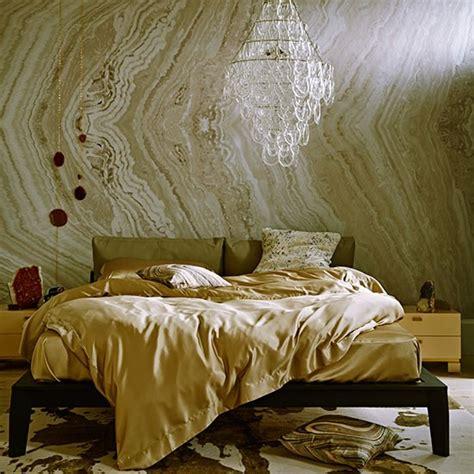 Gold Bedroom Chandelier Gold Textured Bedroom With Chandelier Decorating