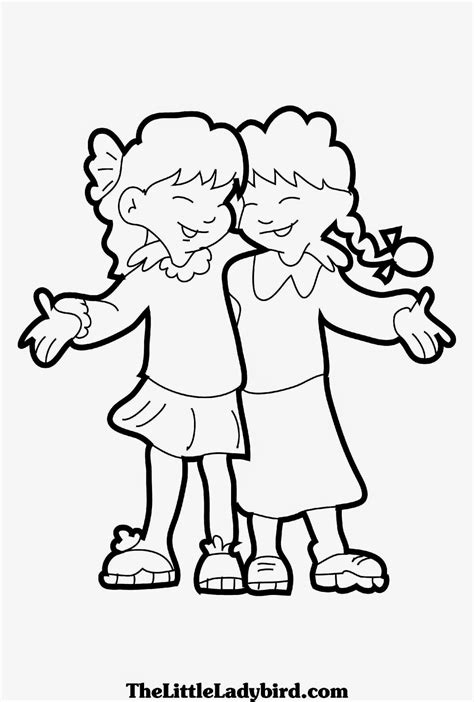 coloring pages with friends anime coloring pages best friends coloring pages