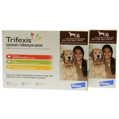 heartworm trifexis dogs trifexis heartworm flea dewormer chew tabs vetrxdirect