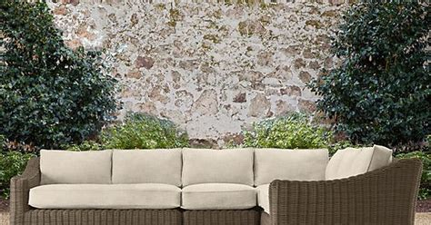 restoration hardware provence sofa provence luxe sectional outdoor seating from restoration