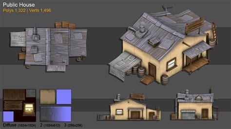 house design games online 3d free 3d model public house by bochicoine on deviantart