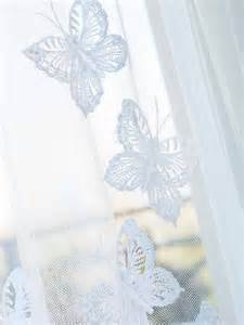 Sheer Butterfly Curtains Butterfly Sheer Curtains Crochet