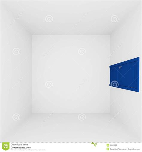 white wall empty room  top viewd interior stock