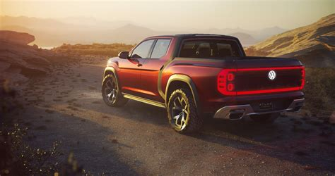 volkswagen truck new atlas tanoak pickup concept shows volkswagen wants