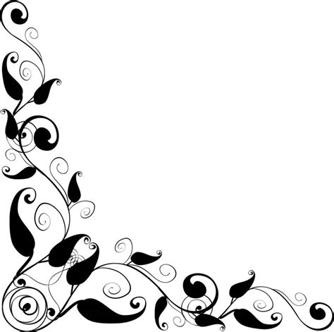 fancy frame clip art black  white clipart panda