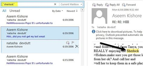 Outlook Search Not Finding Recent Emails Search Outlook Email By Sender Date Keyword Size And More