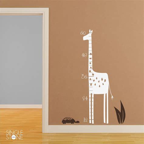growth chart wall sticker giraffe wall decal growth chart nursery vinyl stickers