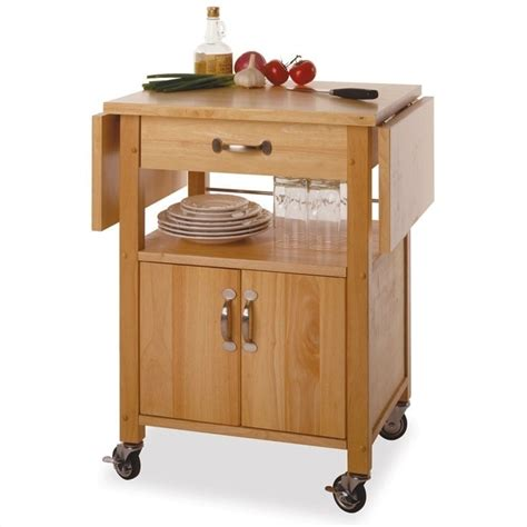Portable Island For Kitchen by Winsome Butcher Block W Drop Leaf Natural Finish Kitchen