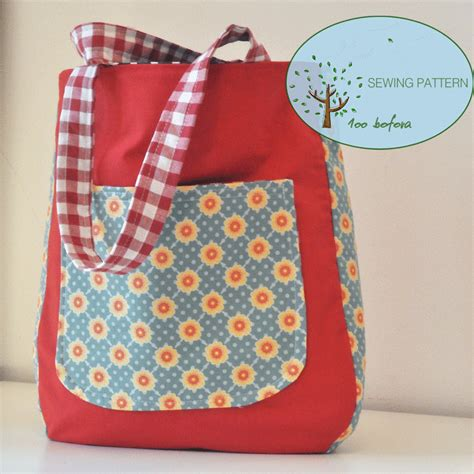 beginner sewing pattern tote bag rounded tote bag sewing patternrounded bottom tote bageasy