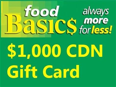 Metro Sweepstakes - www foodbasicsfeedback com win 1 000 cdn in metro gift cards from food basics