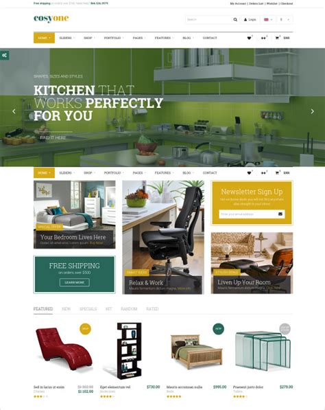 27 Furniture Website Themes Templates Free Premium Templates Furniture Website Templates Free
