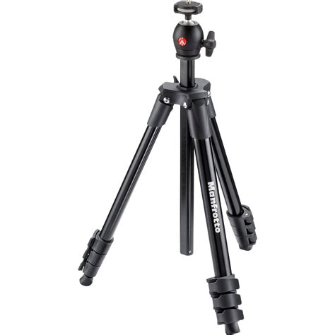 manfrotto compact light aluminum tripod black mkcompactlt bk