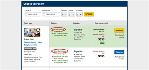 expedia s free cancellation in advertising