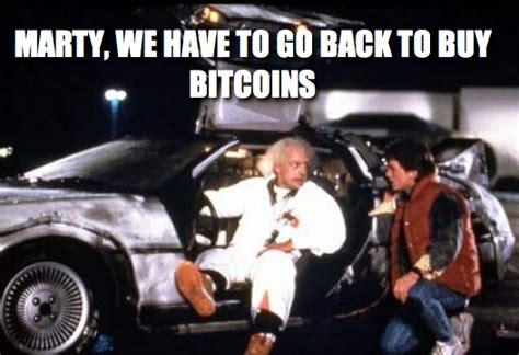 bitcoin back to the future meme