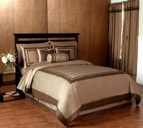 Spa Bedding Sets Taupe And Chocolate Hotel Spa Collection Duvet Comforter Cover 6 Bedding Set King Size