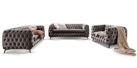 couchgarnitur    sitzer chesterfield sofa emma samt