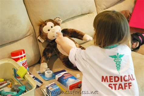pretend play vet s office with free printable mess for