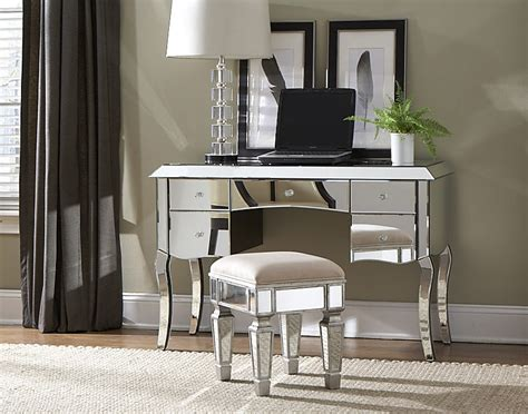 Mirrored Desks And Vanities by Image Of Desk Mirrored Vanity Table Vanities