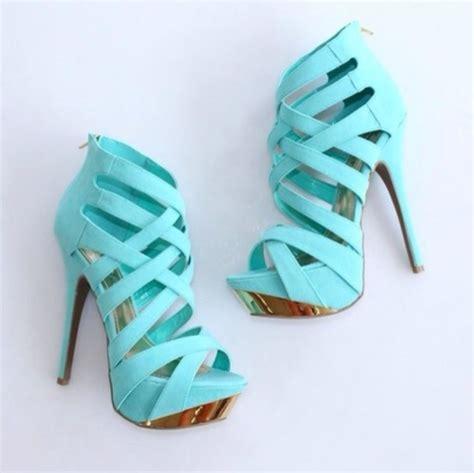 shoes high heels aqua high heels gold blue light blue