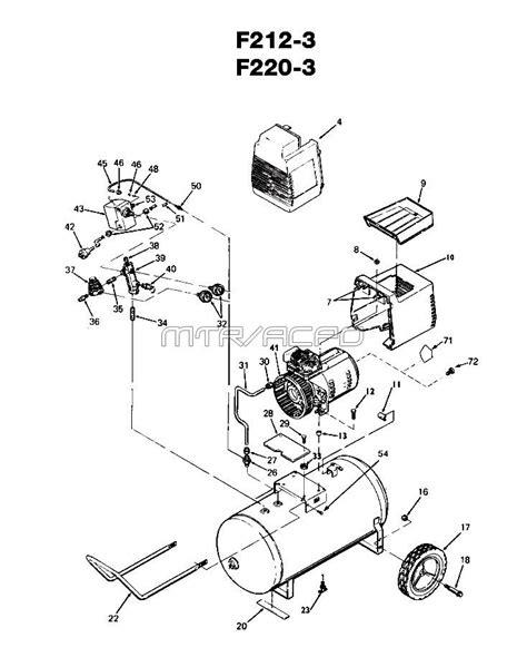 devilbiss f212 3 f220 3 air compressor parts