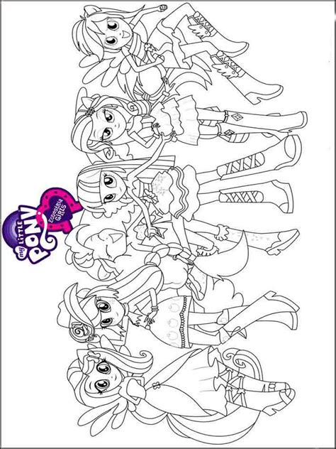 Equestria Girls Coloring Pages Download And Print My Pony Equestria Coloring