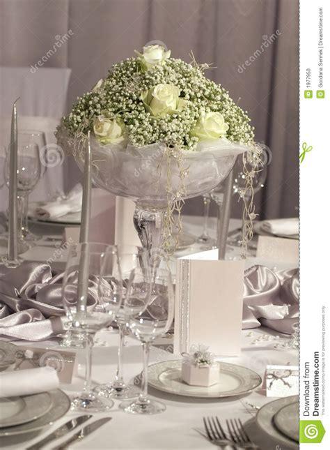 table set  wedding dinner stock photo image