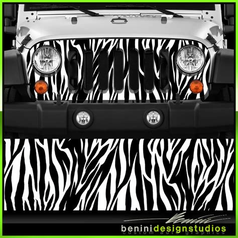 jeep grill skin jeep wrangler grill vinyl wrap skin zebra stripes 2007