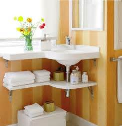 In the small bathroom which can provide enough space for bathroom