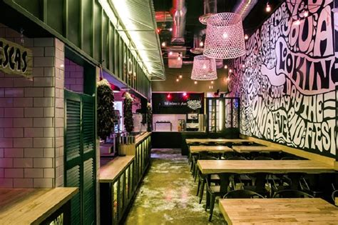restaurant interior inspired   urban mexican culture