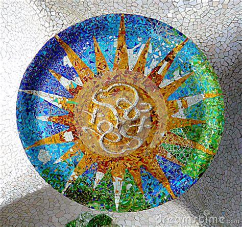 antoni gaudi create your antoni gaudi ceramic ceiling mosaic design stock photo image 46446069
