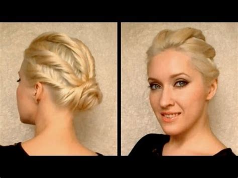 party hairstyles for short hair youtube party hairstyle for prom wedding for medium long hair