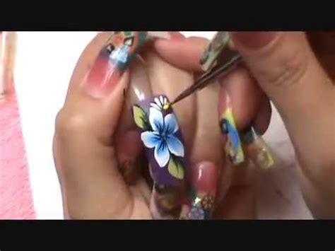 Imagenes De Uñas Acrilicas Mano Alzada | dise o a mano alzada one stroke step by step nails