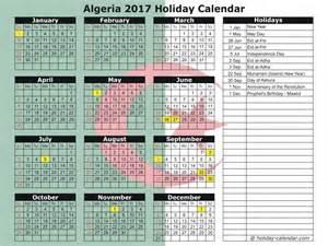 Algeria Calendã 2018 Algeria 2017 2018 Calendar