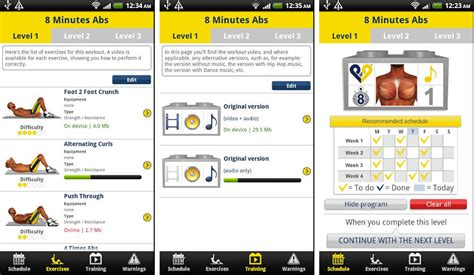 best android apps for getting flat chiseled six pack abs