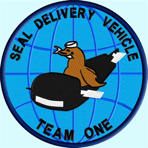 seal team one logo delivery team one sdvt 1 logo 4 size pack digitized