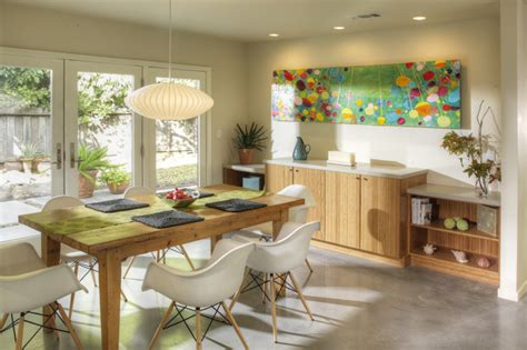 dinning area dining area with built in buffet cabinetry midcentury