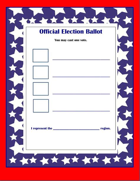 best 25 voting ballot ideas on pinterest election