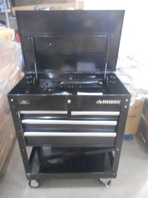 husky 4 drawer tool cart husky 33 in 4 drawer mechanics tool cart black general