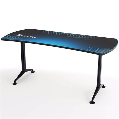 Desk L Blue by Clutch Ergonomic 66 Quot Blue Gaming Desk Clutch Chairz Usa