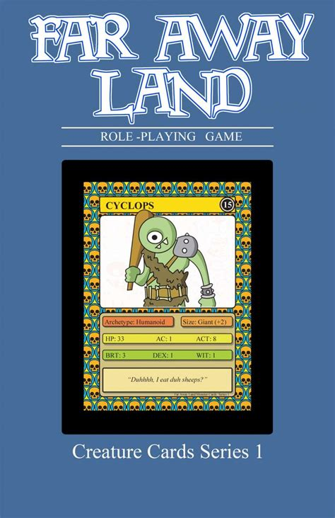 drive thru rpg card template far away land rpg creature cards series 1 simian circle