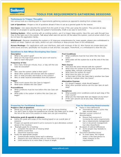 business analyst requirements template business analyst requirements resource downloads seilevel